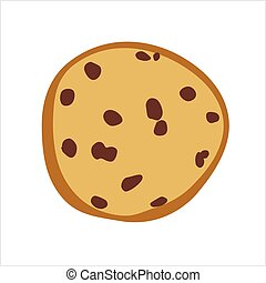 Cookie Icon, Biscuit Icon Vector Art Illustration
