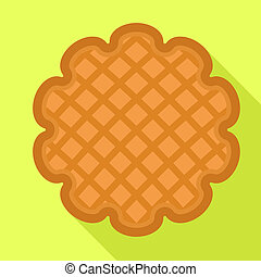 Cookie icon, flat style