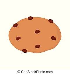 Cookie icon on white background for graphic and web design, Modern simple vector sign. Internet concept. Trendy symbol for website design web button or mobile app.