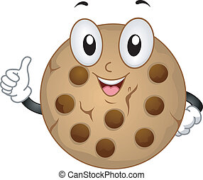 Cookie Mascot - Mascot Illustration Featuring a Cookie Doing...