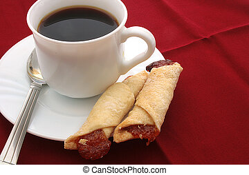 Cookie, napkin red, cup, Coffe