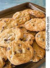 Cookie of homemade chocolate chip cookies