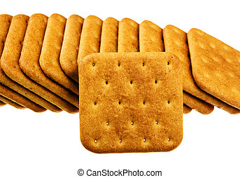 Cookie of the cracker isolated on white background