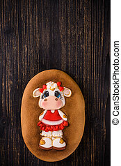 cookie on a wooden background