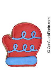 Cookie - Red Mitt - Red Mitt sugar cookie (cookie series)....