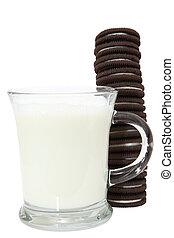 Cookie Stack and Milk