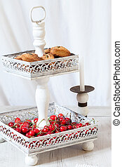 Cookie Stand With Cherries