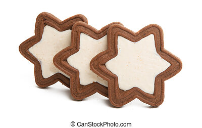 cookie stars isolated