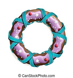 Cookie stylized christmas wreath