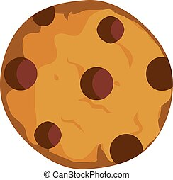 Cookie - vector chocolate chip cookie