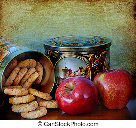 Cookies and apples