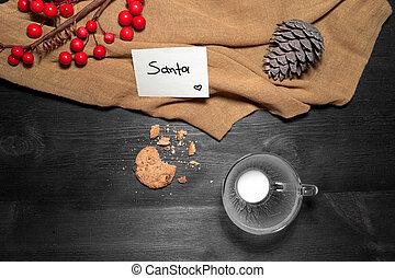 Cookies and milk for Santa Clause