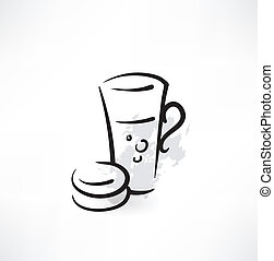 cookies and tea icon