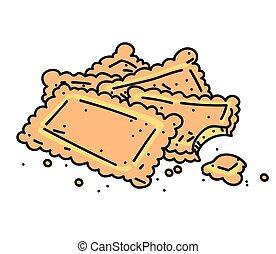 Cookies cartoon hand drawn image