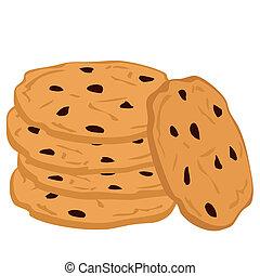 cookies., cioccolato