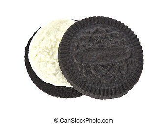 cookies cream isolated on white background