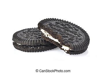 cookies cream on white background