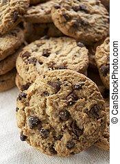 Cookies - Group of chocolate chips cookies.