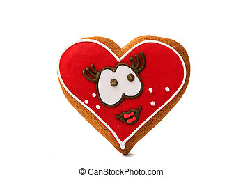 Cookies heart for Valentine's Day isolated