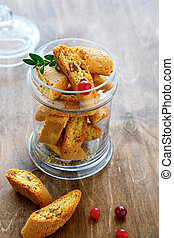 cookies in a glass jar