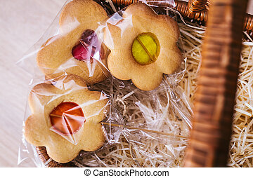 Cookies in the form of flowers