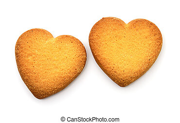 Cookies in the form of heart.