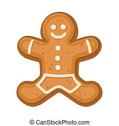 Cookies in the shape of a man. Vector illustration on a white background.