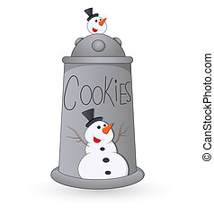 Cookies Jar Christmas Vector