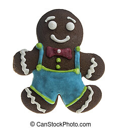 Cookies man on white background
