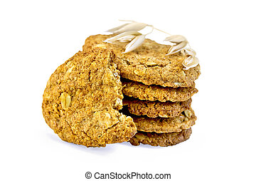 Cookies oatmeal stack with spikelet