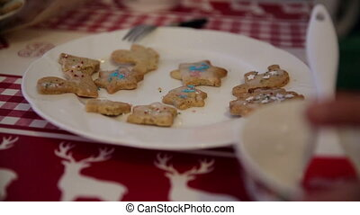 Cookies on a plate on advent first