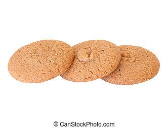 Cookies on a white background.