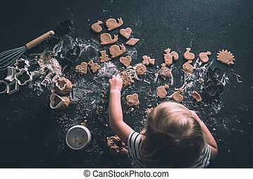 Cookies on a worktop