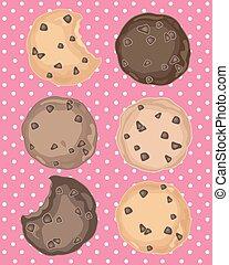 cookies on pink