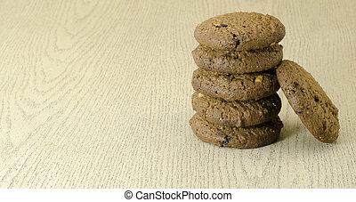 cookies on wood table