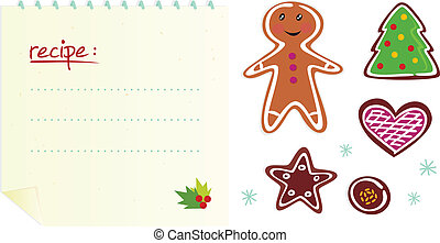 Cookies or christmas icons