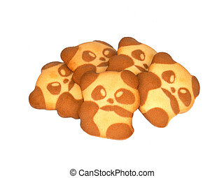 cookies Panda isolated on a white background