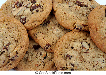 Cookies - Pile of chocolate chip cookies