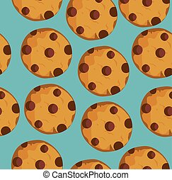 Cookies Seamless Background - vector seamless cookie...