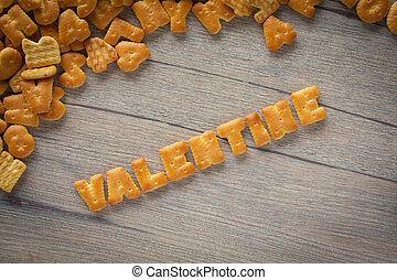 Cookies Valentine - Cookies ABC in the form of word...