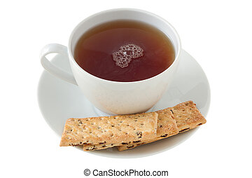 cookies with a cup of tea