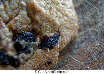 Cookies with chocolate chip, Close-up
