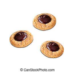cookies with chocolate cream