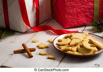 Cookies with Christmas gifts
