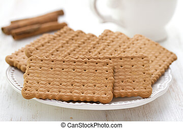cookies with cinnamon and tea