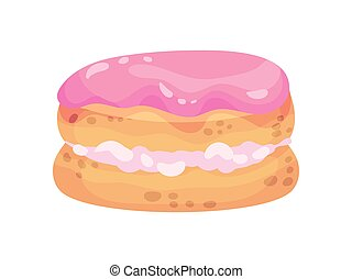 Cookies with cream filling. Vector illustration on white background.