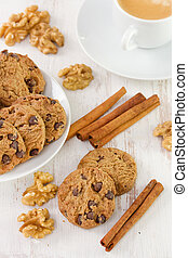 cookies with cup of coffee