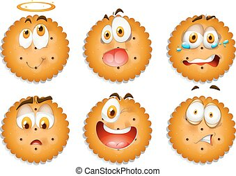 Cookies with facial expressions