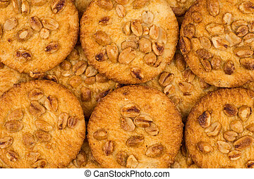 Cookies with peanuts.