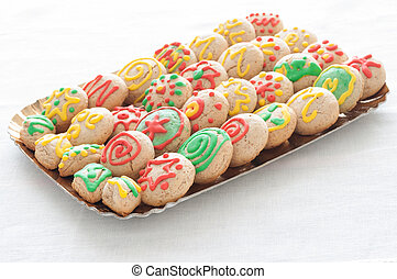 Cookies with sugar